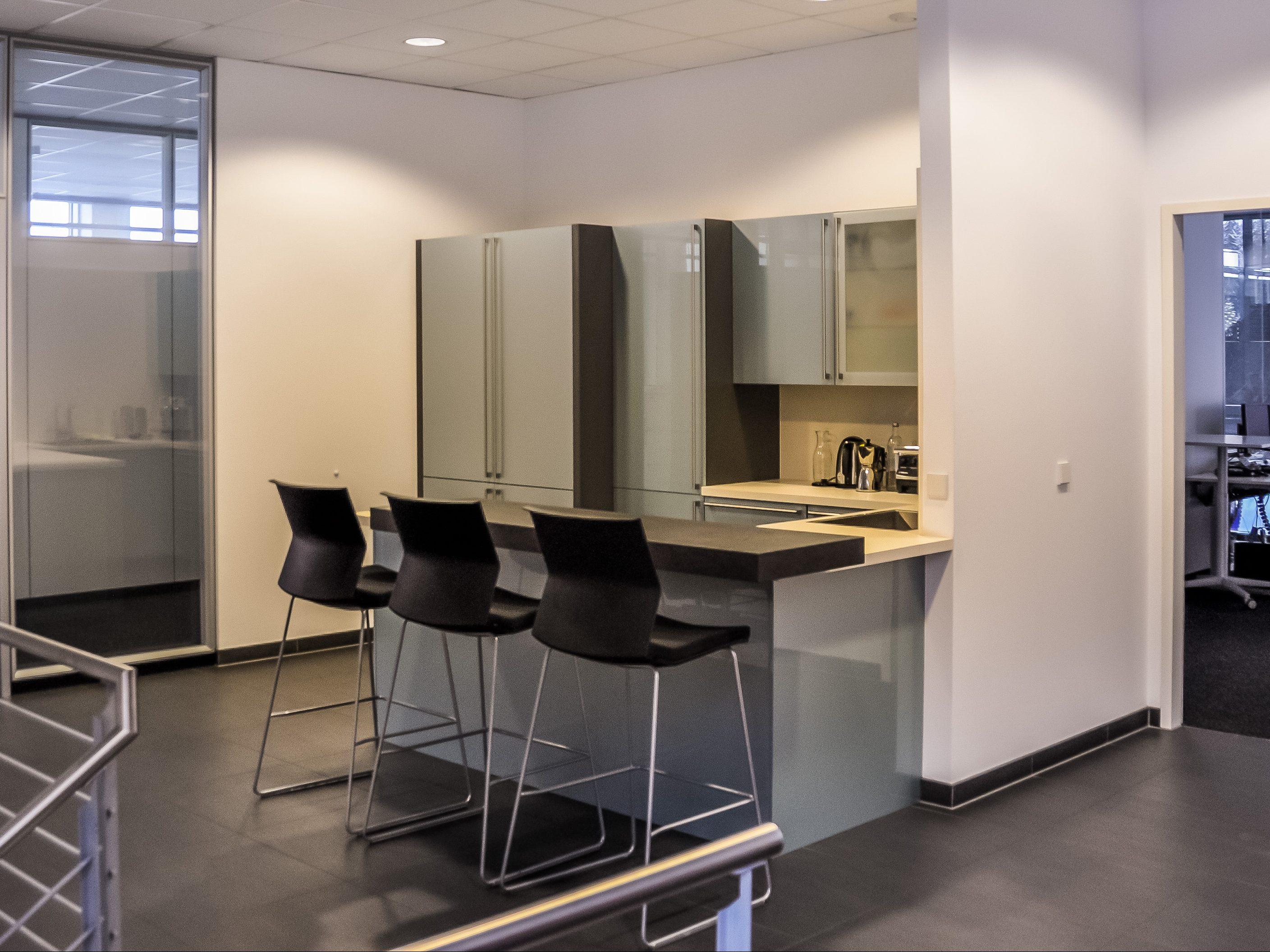 Ein offener Treffpunkt für Mitarbeiter im Verwaltungsgebäude