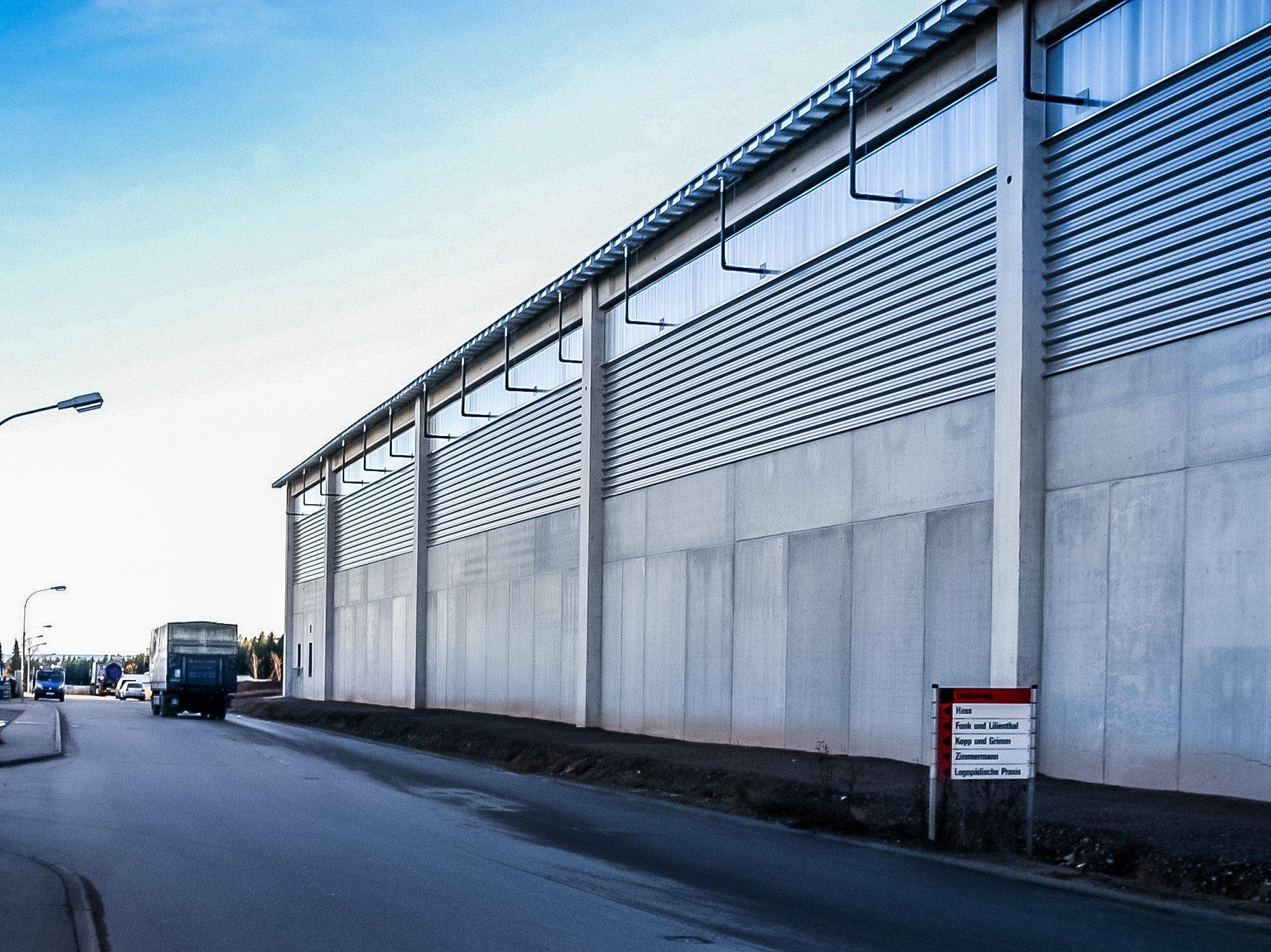 Recyclinghof – Imposante Architektur aus Beton und Stahl