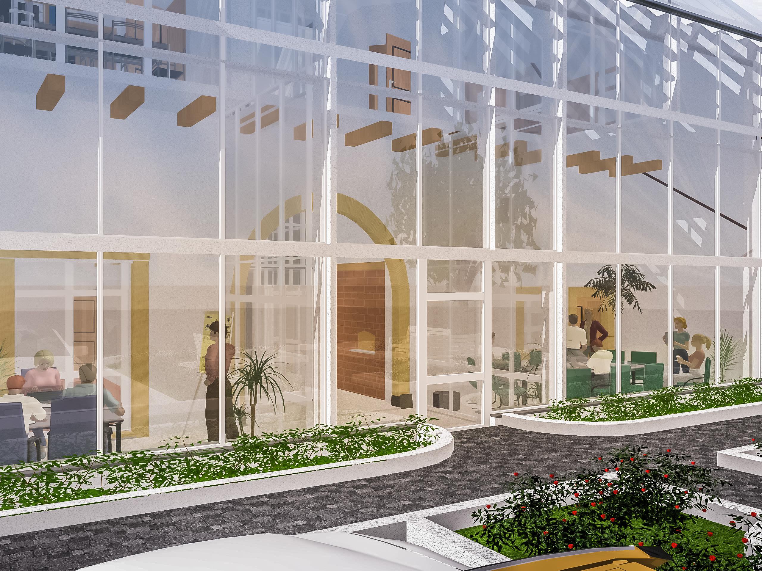 Gasthaus Visualisierung 3D
