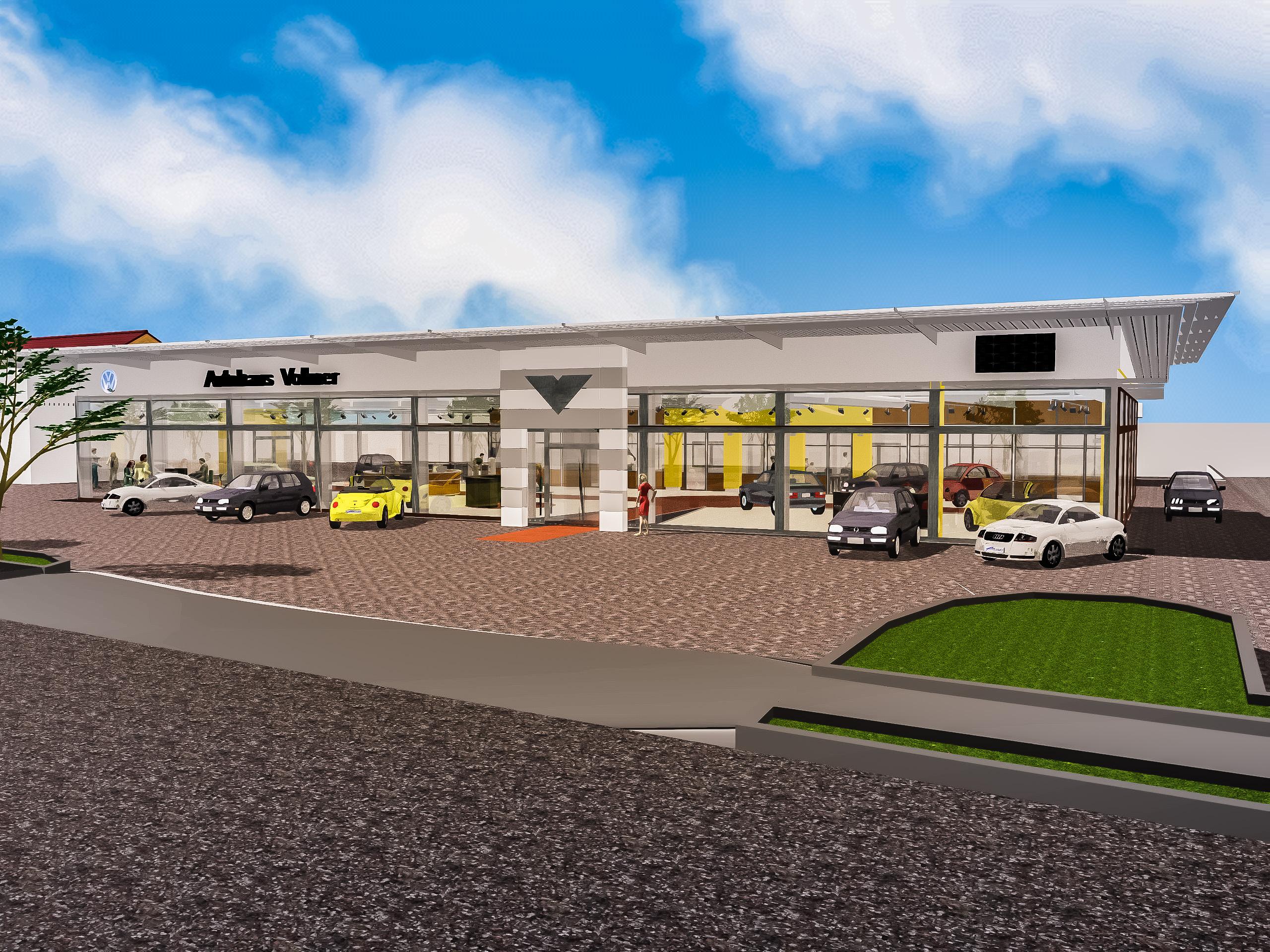 Autohaus Vollmer 3D Visualisierung
